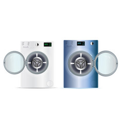 3d realistic washers washing machine isolated on vector
