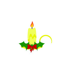 a christmas candle of icons holiday day vector image