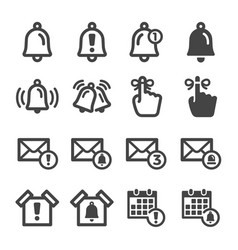 Alert and reminder icon set vector