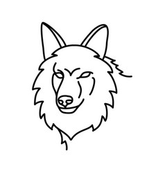 animal coyote icon design clip art line icon vector image