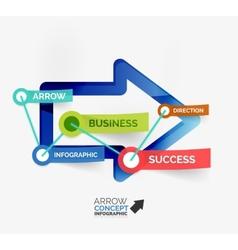 Arrow infographic flat line concept vector