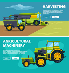 banners set with of agricultural vector image