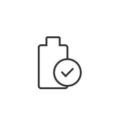 Battery icon logo template design vector