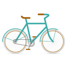Bicycle hipster in flat style vector