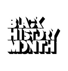 Black history month logo vector