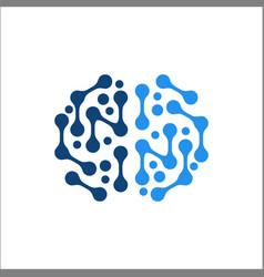Brain logo images stock vector