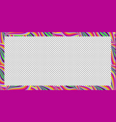 bright colorful rectangle frame summer pattern vector image