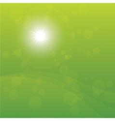 Bright Sun Burst Green Background vector image