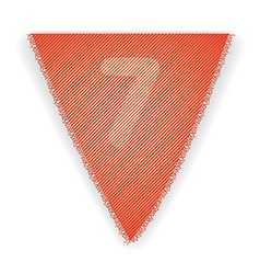Bunting flag number 7 vector