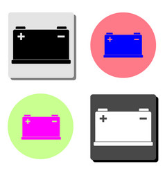 car battery flat icon vector image