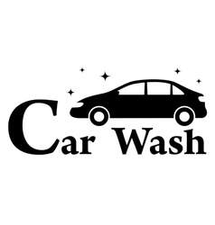 car wash icon with clean automobile vector image