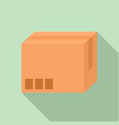 carton box icon flat style vector image