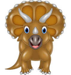 Cartoon Triceratops isolated on white background vector image