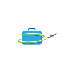 Case travel airplane creative air design logo vector