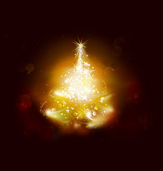 christmas background with starry tree vector image