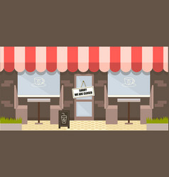 closed cafe coronavirus disease prevention vector image