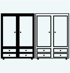 Closed cupboard vector