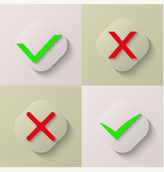 collection of four icons vector image