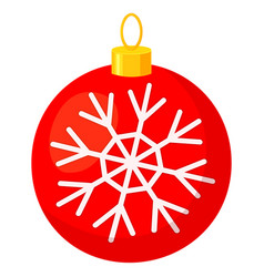 colorful cartoon christmas ball snowflake vector image