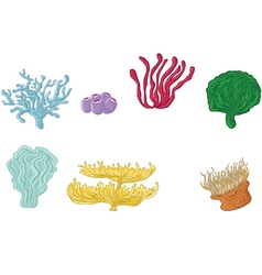 Coral Marine set of design elements vector