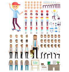 create character set different vector image