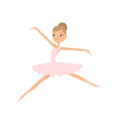 cute sexy ballerina girl jumping in theatre scene vector image