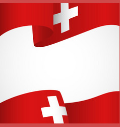 Decoration of switzerland insignia on white vector