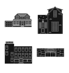 design of building and front symbol vector image