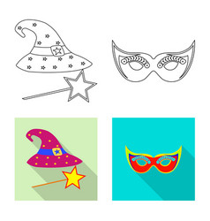 Design party and birthday symbol vector