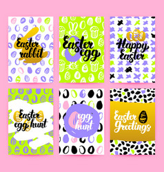 easter trendy brochures vector image
