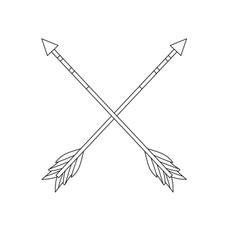 Figure cute arrows element with ornamental design vector