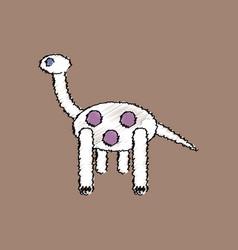 Flat shading style icon giraffe toy vector