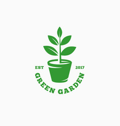green garden logo vector image