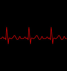 heartbeat icon ecg pathology trace vector image