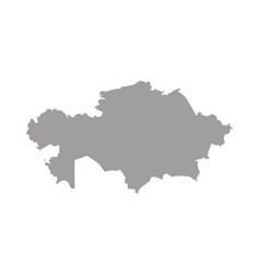 high quality map kazakhstan with borders of vector image