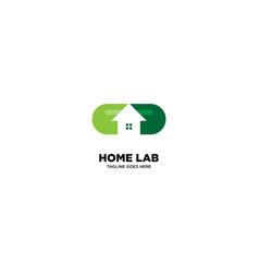 Home laboratory logo template vector