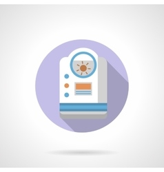 Household dehumidifier flat round icon vector image