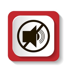 icon with symbol prohibits radiosound vector image