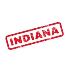 Indiana Text Rubber Stamp vector