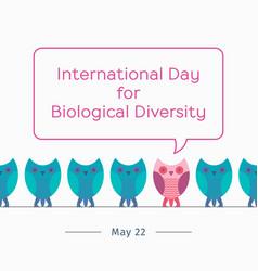 international day for biological diversity vector image