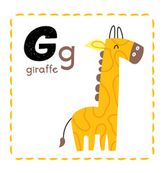 Letter g funny alphabet for young children vector