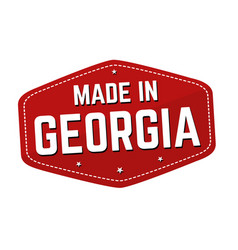 made in georgia label or sticker vector image