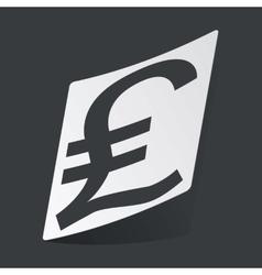 Monochrome pound sterling sticker vector