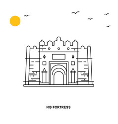 nis fortress monument world travel natural vector image