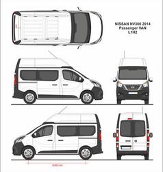 Nissan nv300 passenger van l1h2 2014 vector