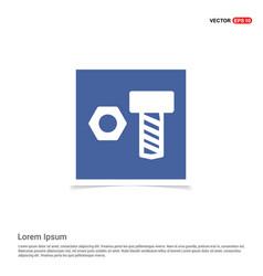 nut bolt icon - blue photo frame vector image