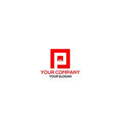 P floor logo design vector