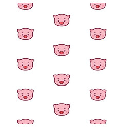 pig head pattern icons for site pattern of vector image