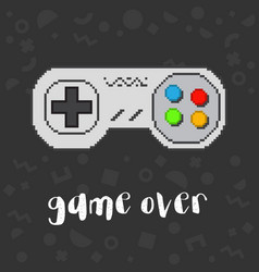 Pixel game controller vector