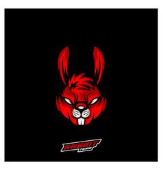 Rabbit esport gaming mascot logo template modern vector